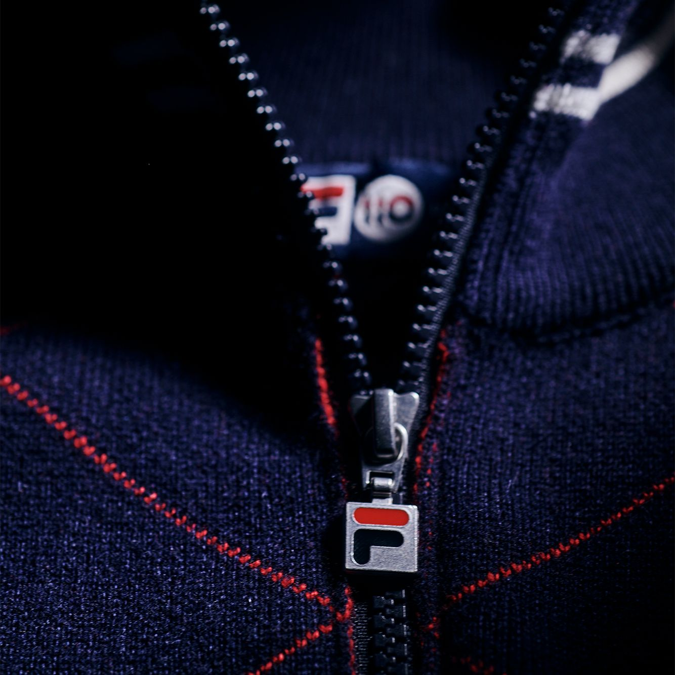 Fila Cashmere Argyle Full Zip Sweater Bild 3