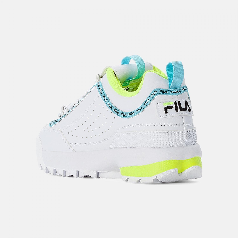 Fila Disruptor Logo JR white-neon-lime Bild 3