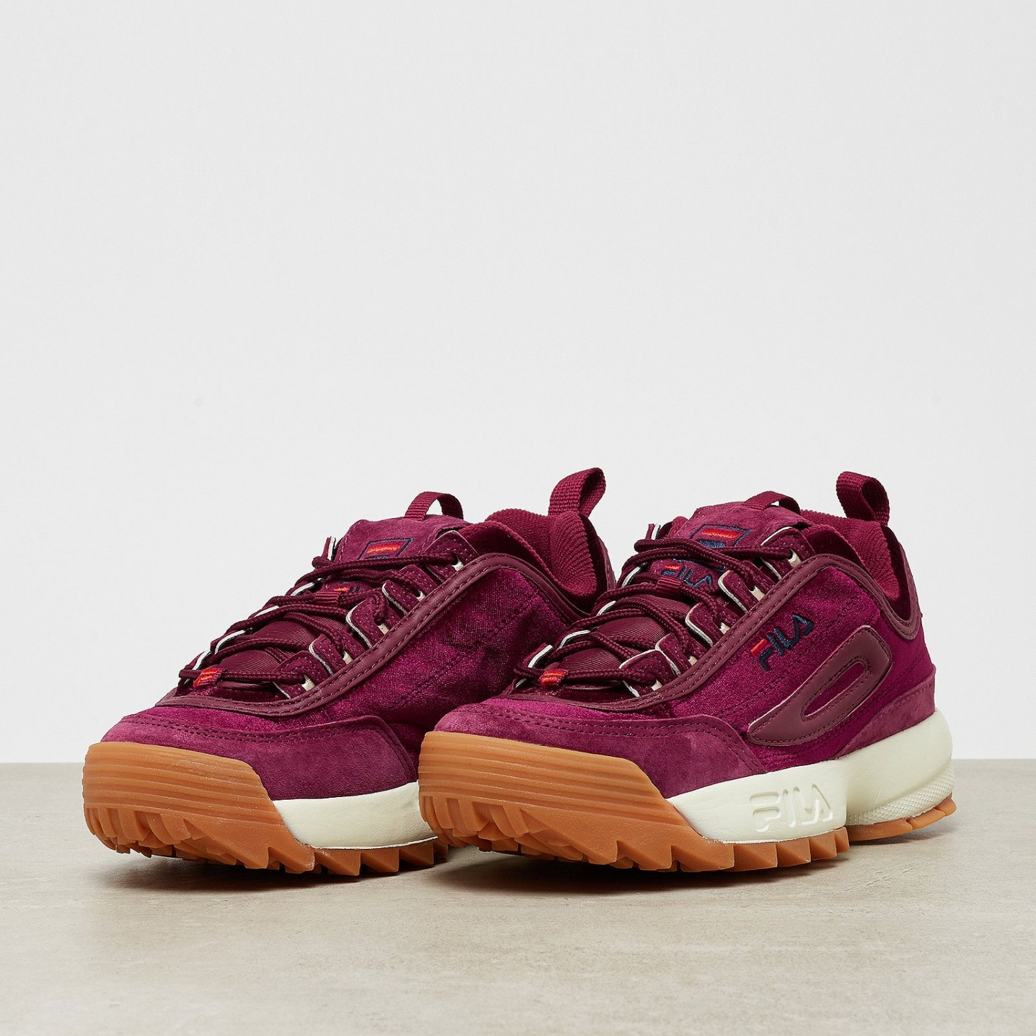 Fila - Disruptor Low Velvet Wmn burgundy red - 00014...  5d267d6190