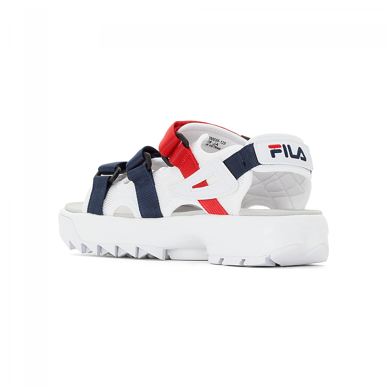 55045d8e175 Fila - Disruptor Sandal white-navy-red - 00014201669...