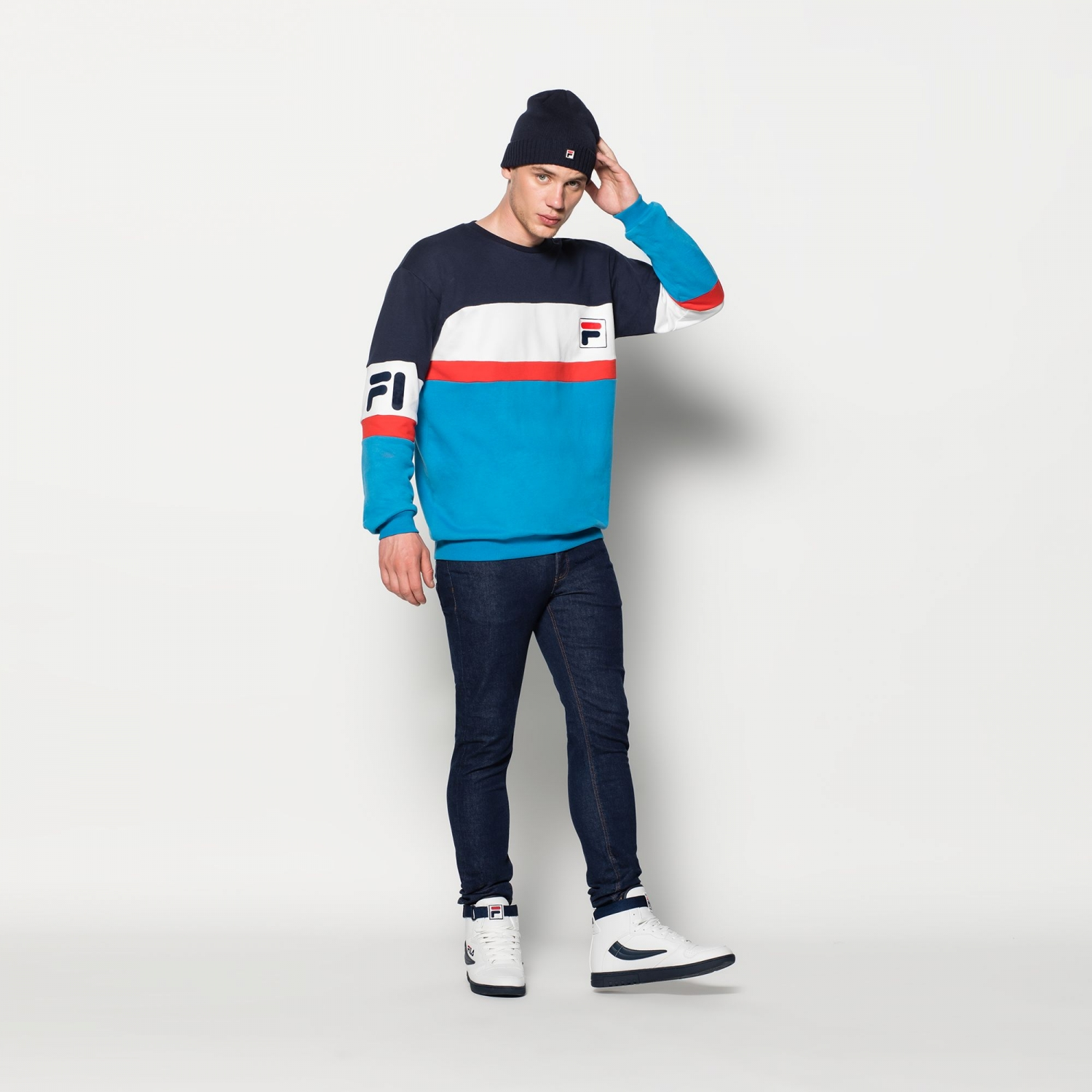 3a17dceca10b Fila - Dylan Crew Sweat - 00014201539922 - black and...