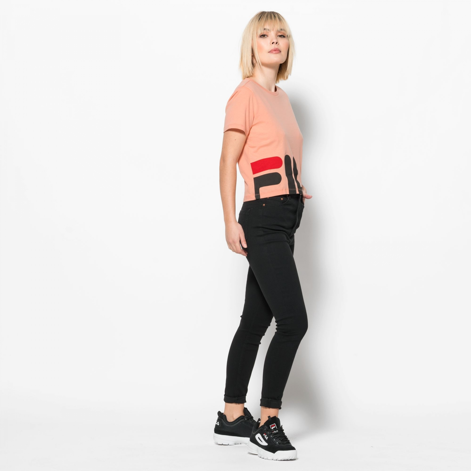 Fila Early Cropped Tee salmon Bild 3