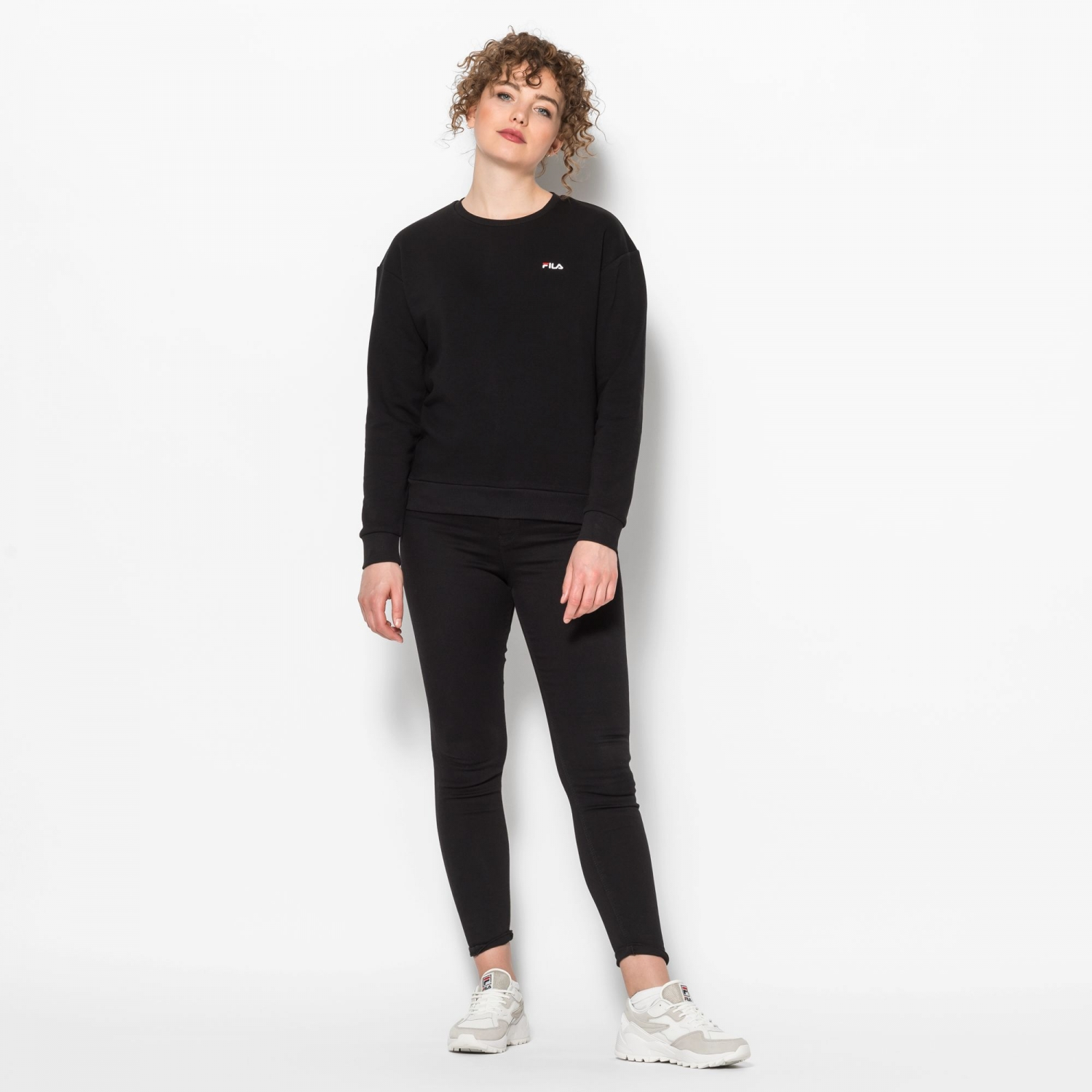 Fila Effie Crew Sweat black Bild 3