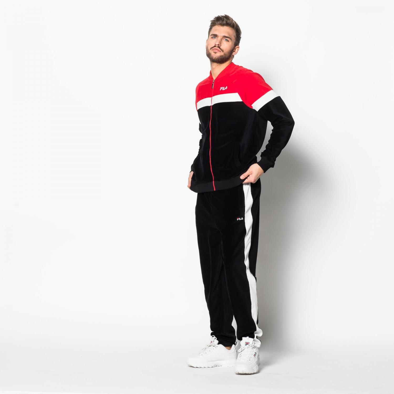 a46d40264935 Fila - Kevin Velvet Track Jacket - 00014201600364 - red
