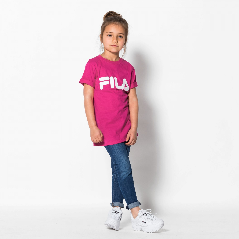 Fila Kids Classic Logo Tee pink-yarrow Bild 3