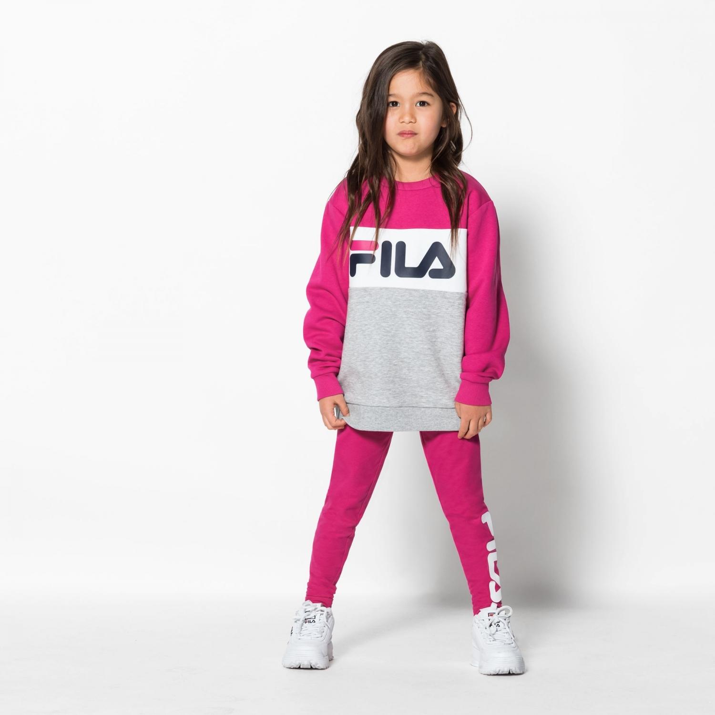 Fila Kids Night Blocked Crew pink-yarrow Bild 3