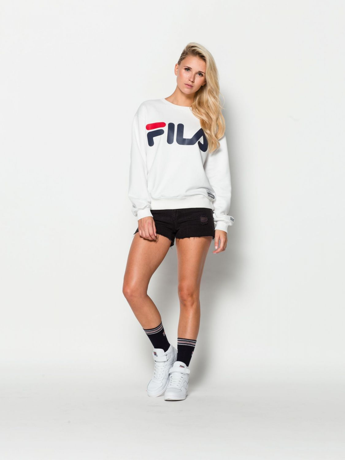 fila kriss sweater 00014201375345 white fila germany. Black Bedroom Furniture Sets. Home Design Ideas