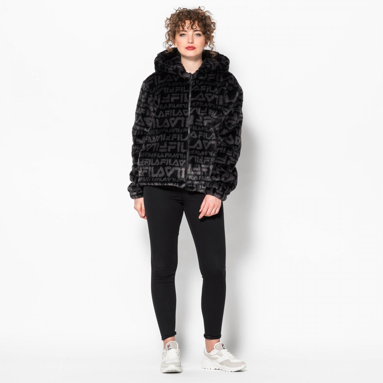 Fila Margot Hooded Fur Jacket Bild 3