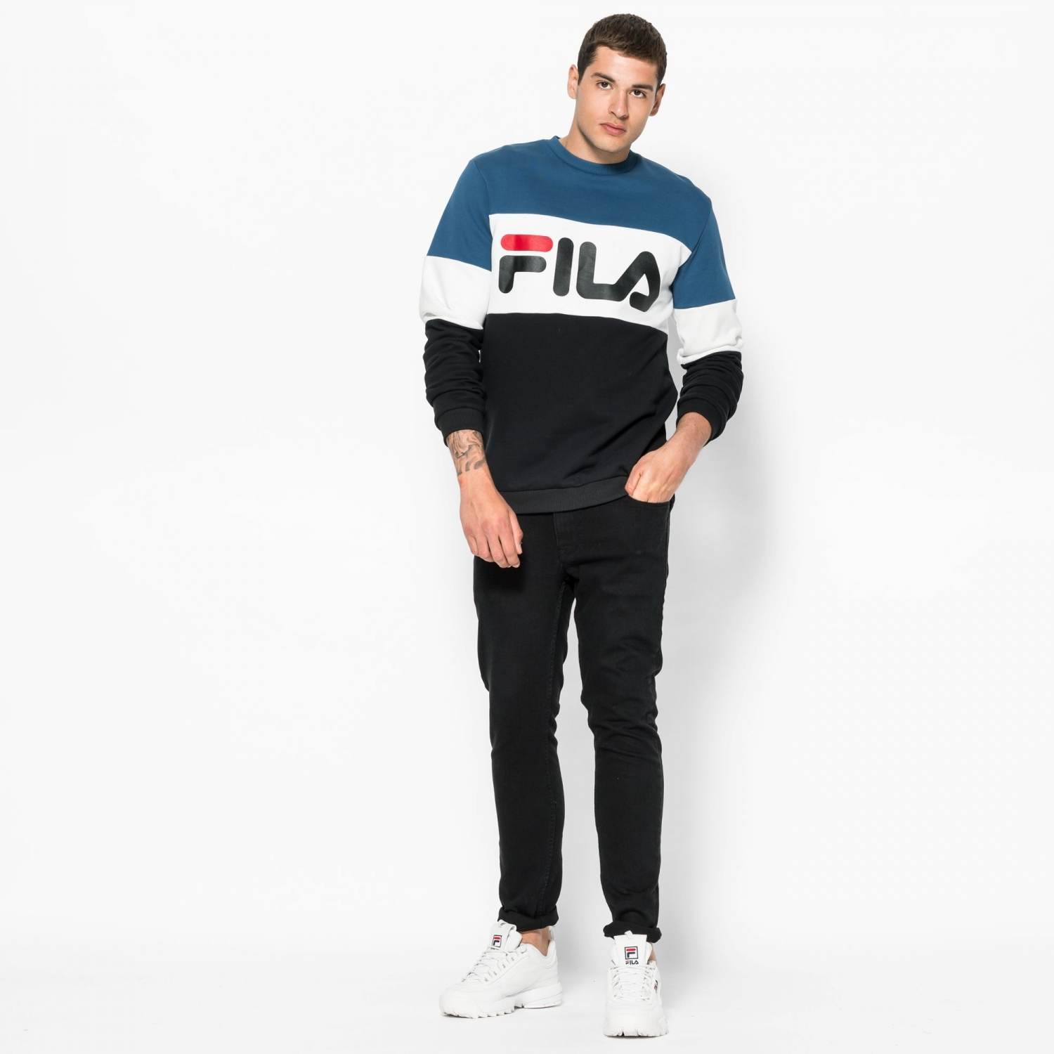 Fila Straight Blocked Crew Bild 3