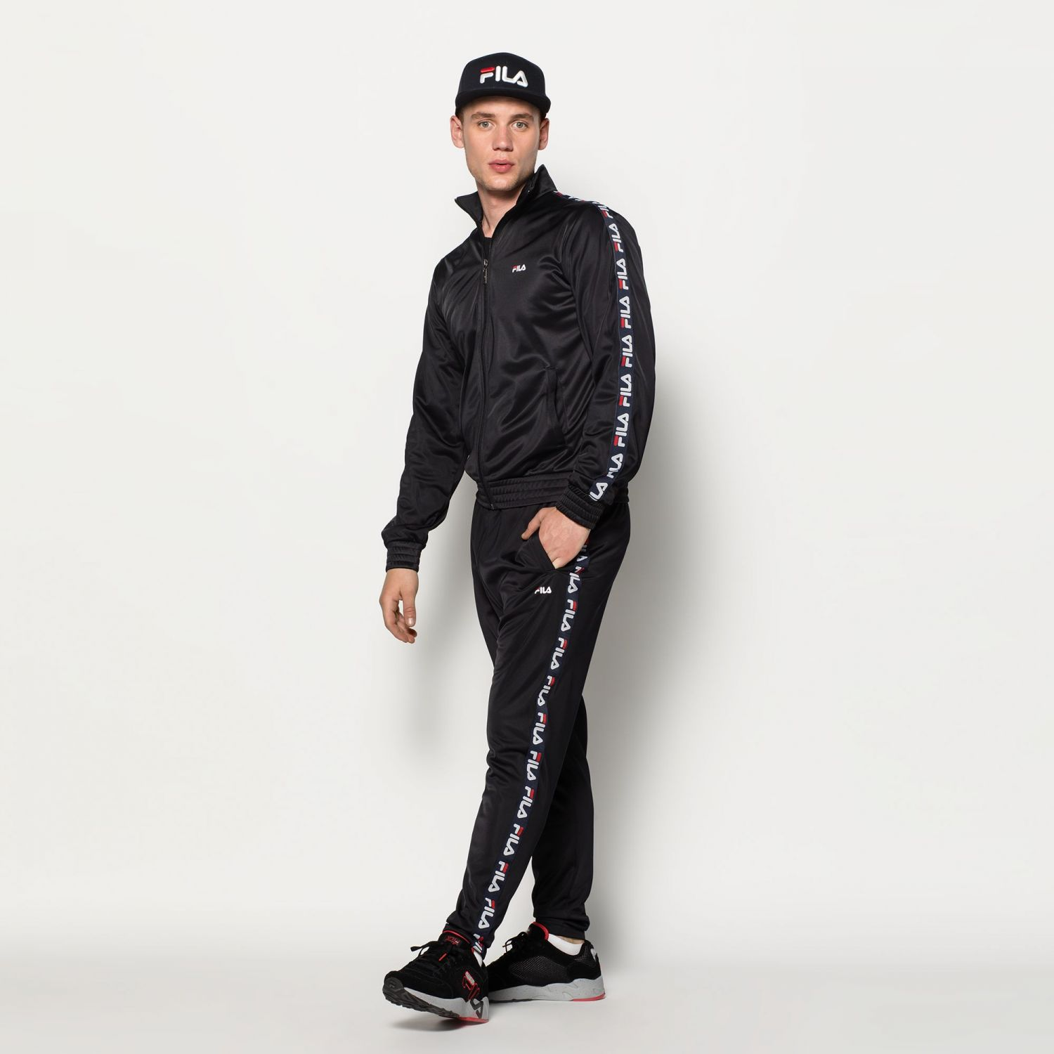 cf314e306caf Fila - Tape Track Pants - 00014201539848 - black