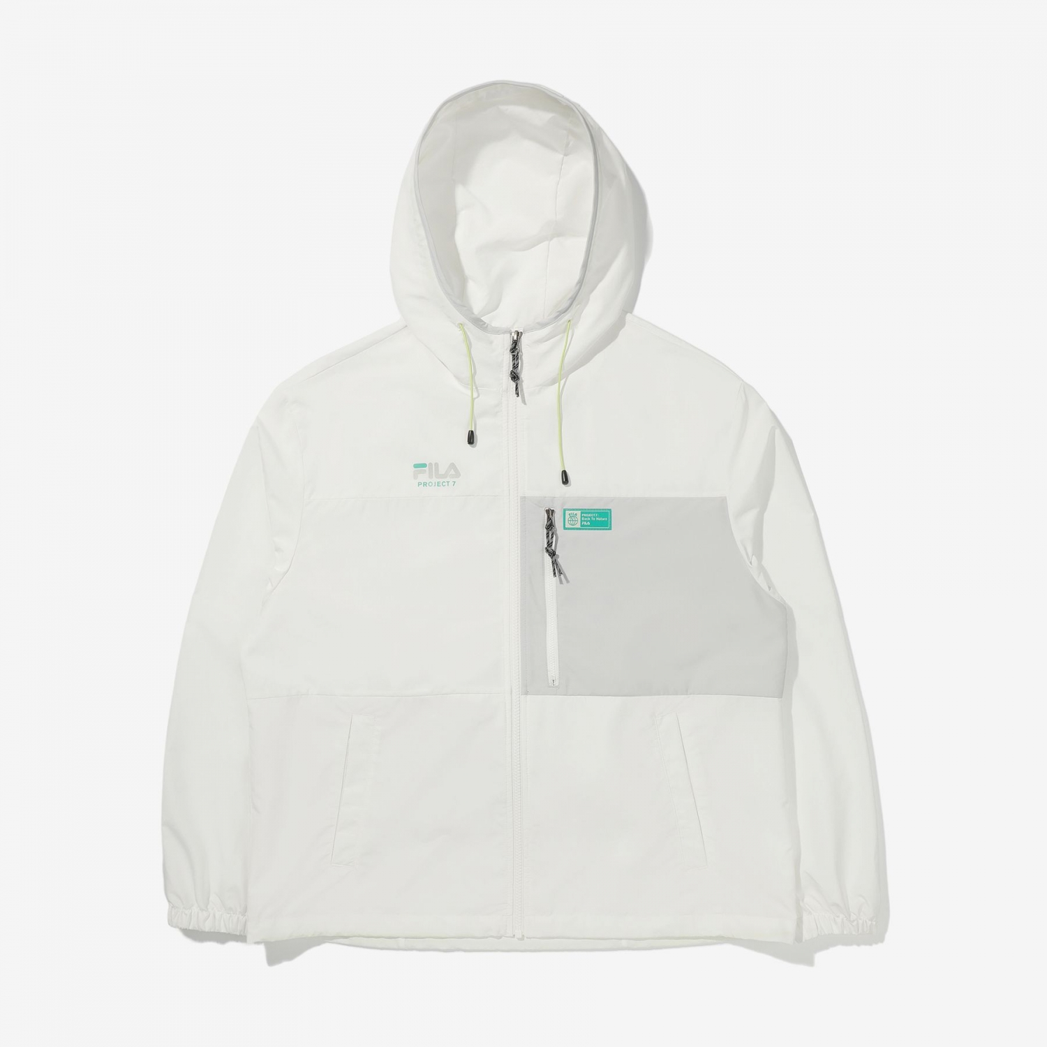 Fila Project 7 Packable Anorak offwhite Bild 4