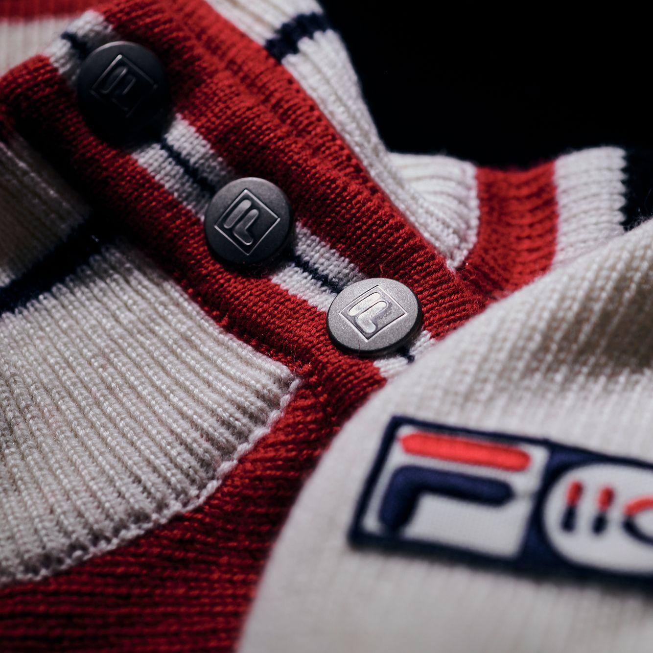 Fila White Rock Cashmere Asym. Half Button Fly Jumper Bild 5